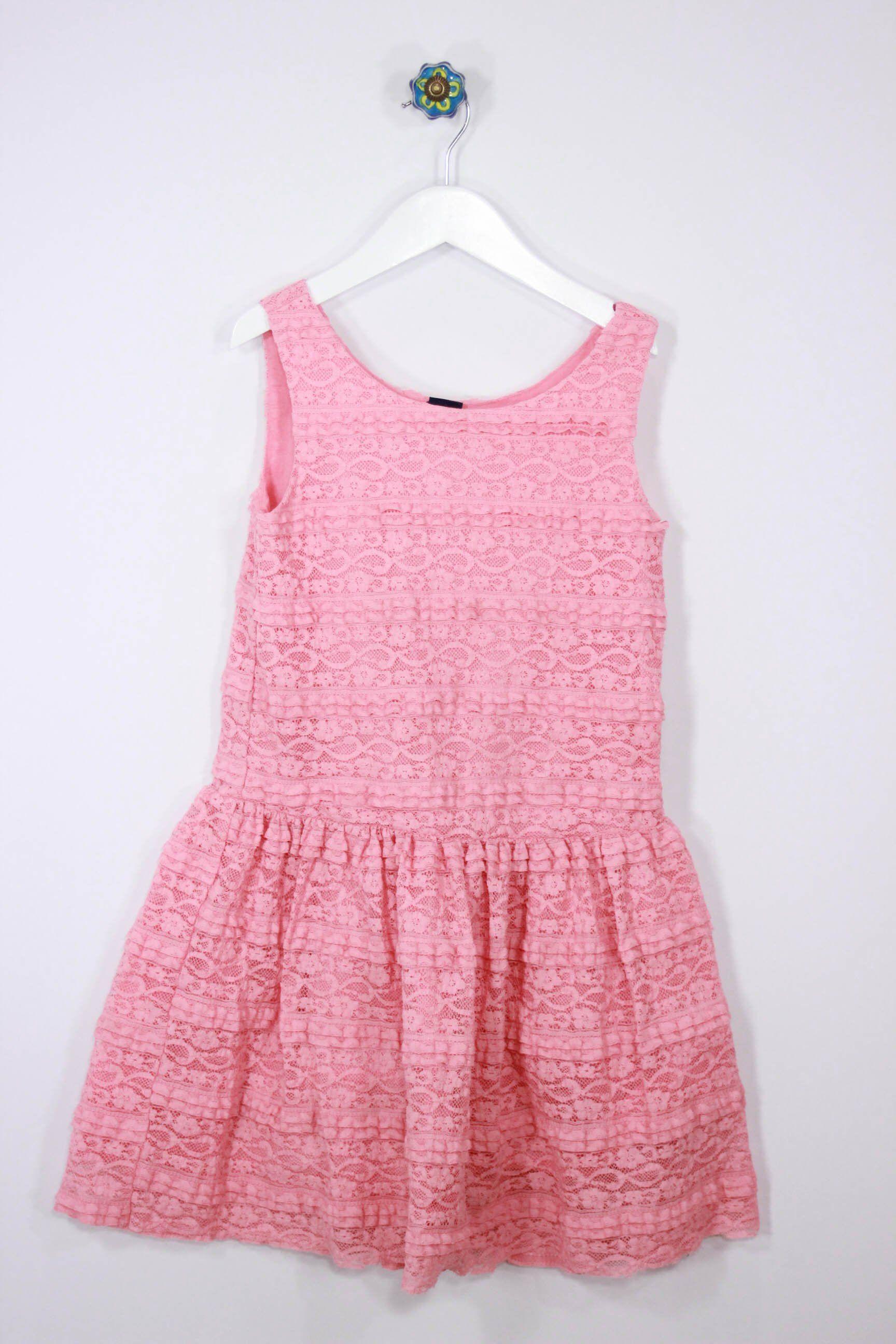 GAP Kids Size 7/8 Peach Lace Dress