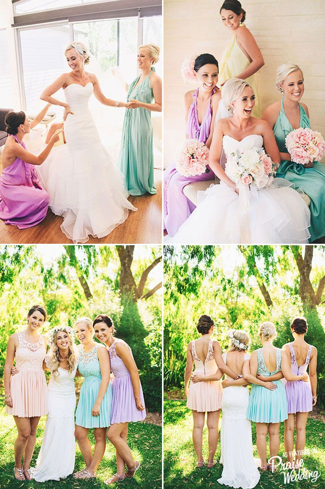 Beautiful mix of dress colors and styles!