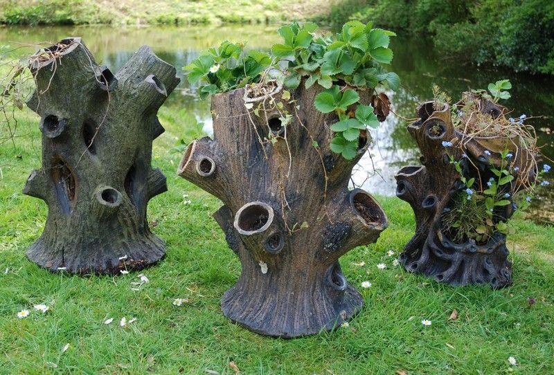 Upcycled Tree Stump And Log Ideas Tree stump, Tree stump