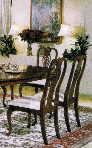 Centennial Cherry Oval Queen Anne Side Chair Set Of 2 By Acme