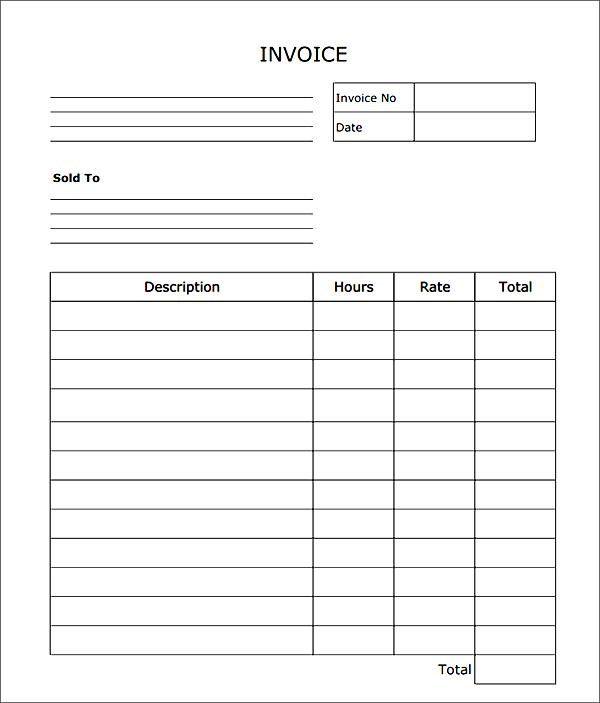 Http Imgarcade Com 1 Blank Service Invoice Templates Invoice Template Word Printable Invoice Invoice Template