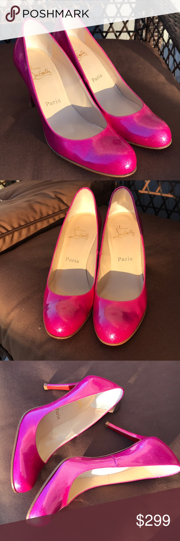 bde4f4b1770 Louboutin Pink Greasepaint 85MM Simple Pumps RARE Amazing and rare ...