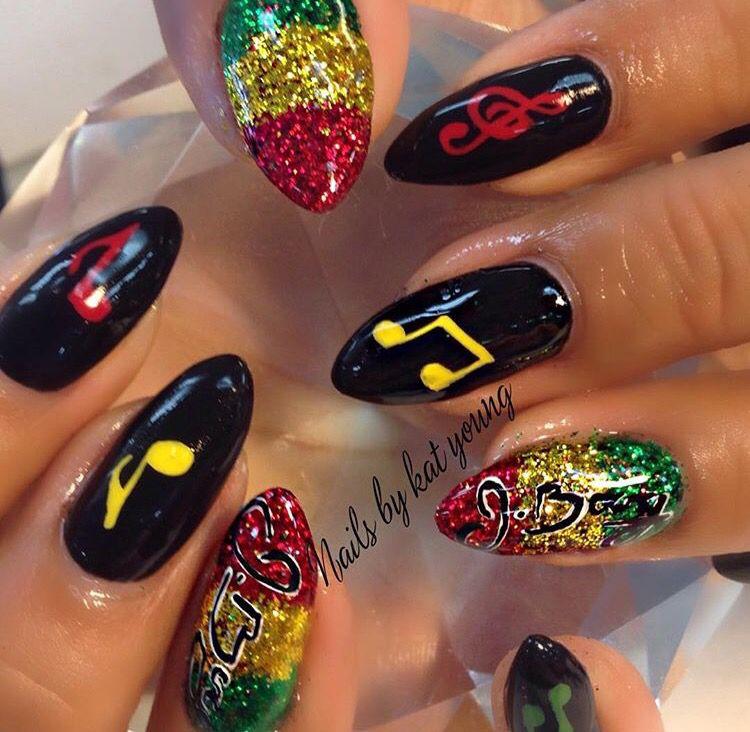 Reggae nail | Nails | Pinterest | Reggae, Jamaica nails and Rasta nails