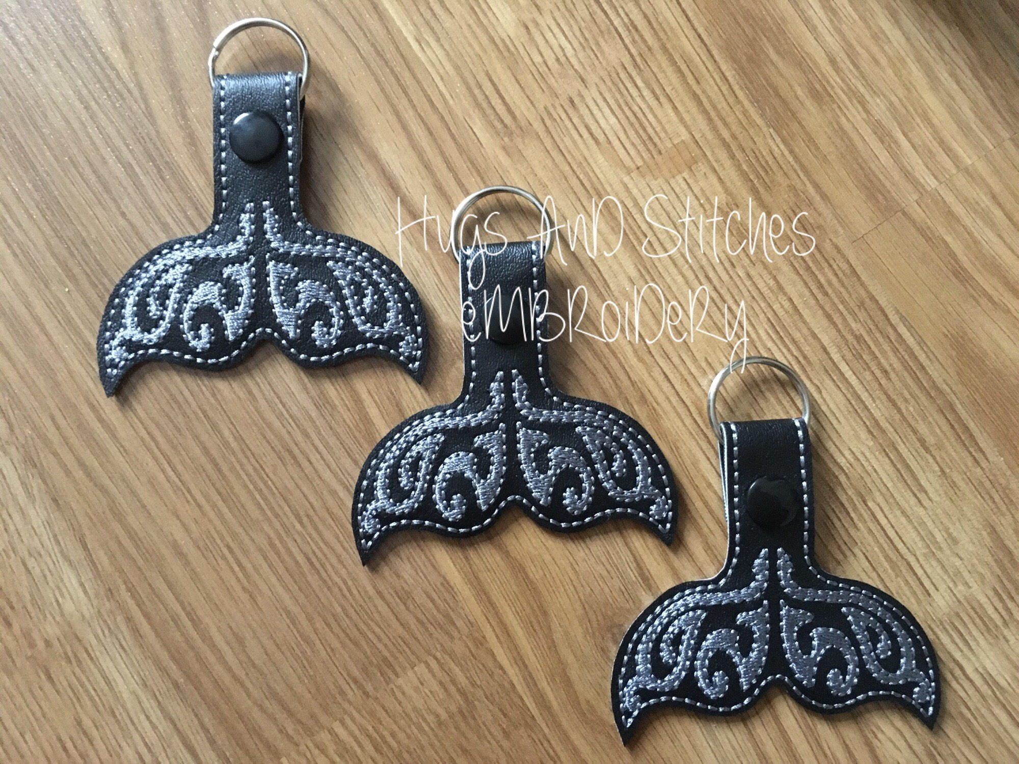 Whale Tail Keyrings