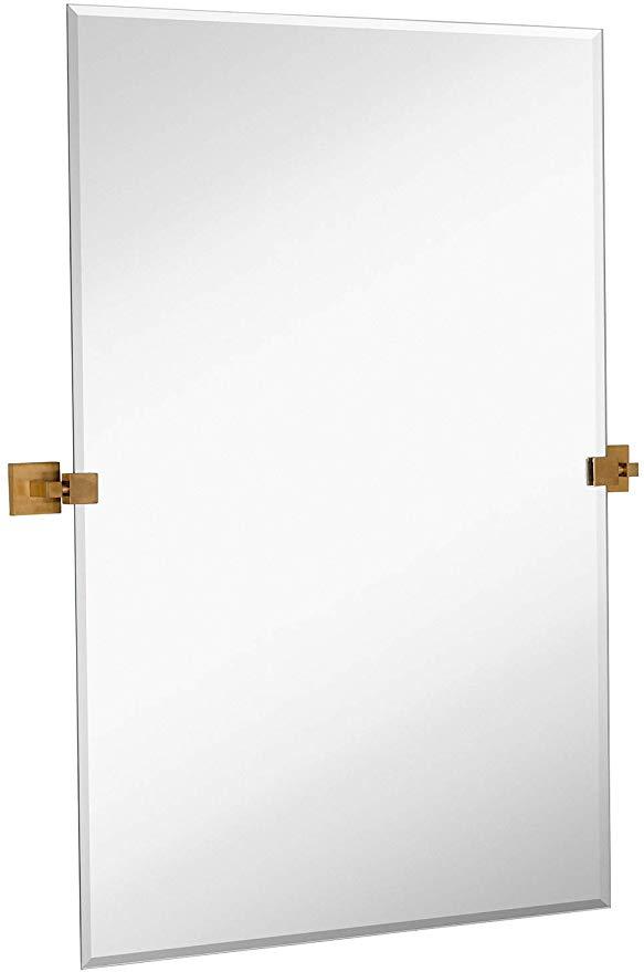 Mirror Wall Mounted, Tilting Bathroom Mirror Homebase