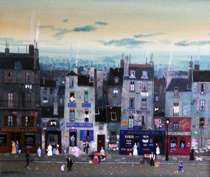 "Original Painting ""Rue Charlie Chaplin"" by Michel Delacroix"