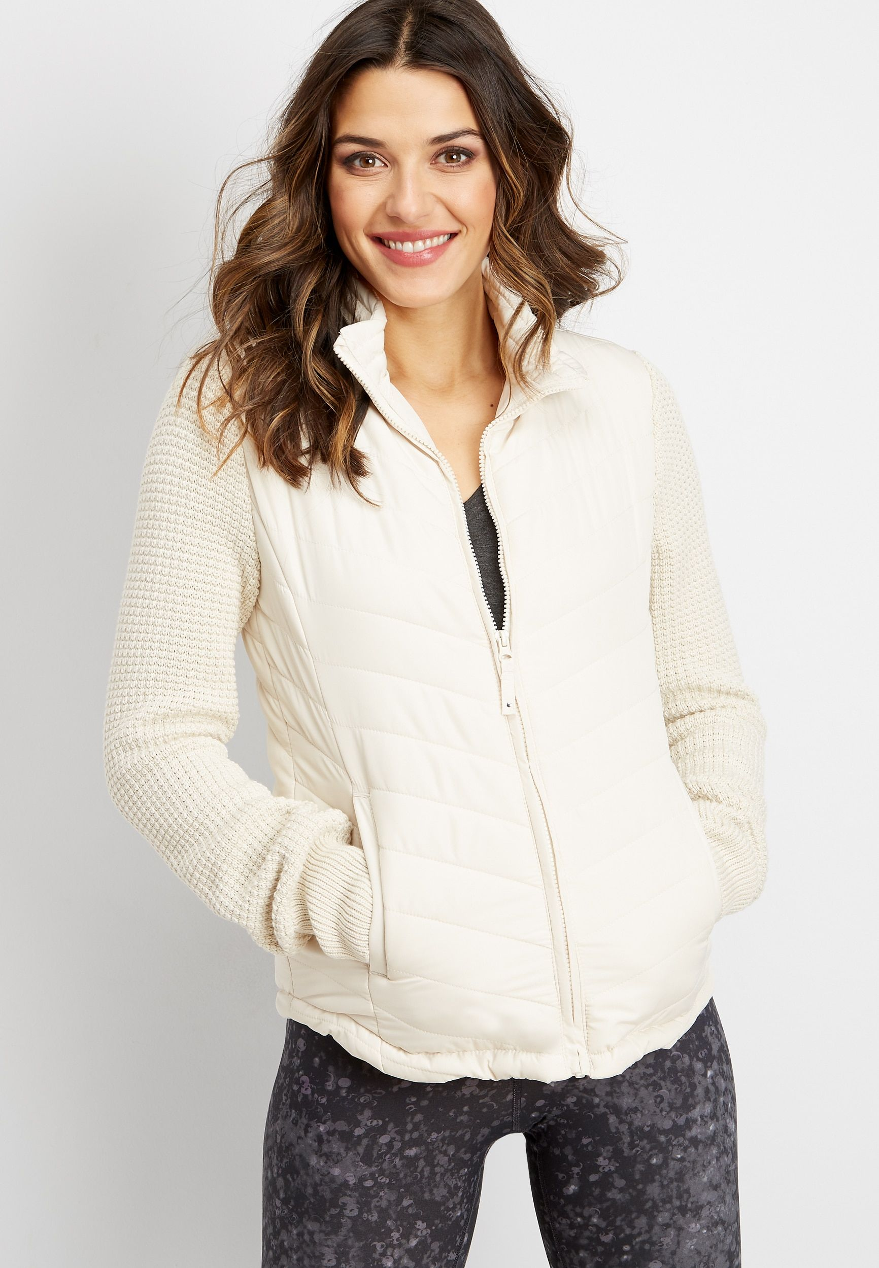 sweater sleeve puffer jacket Sweater sleeves, Jackets