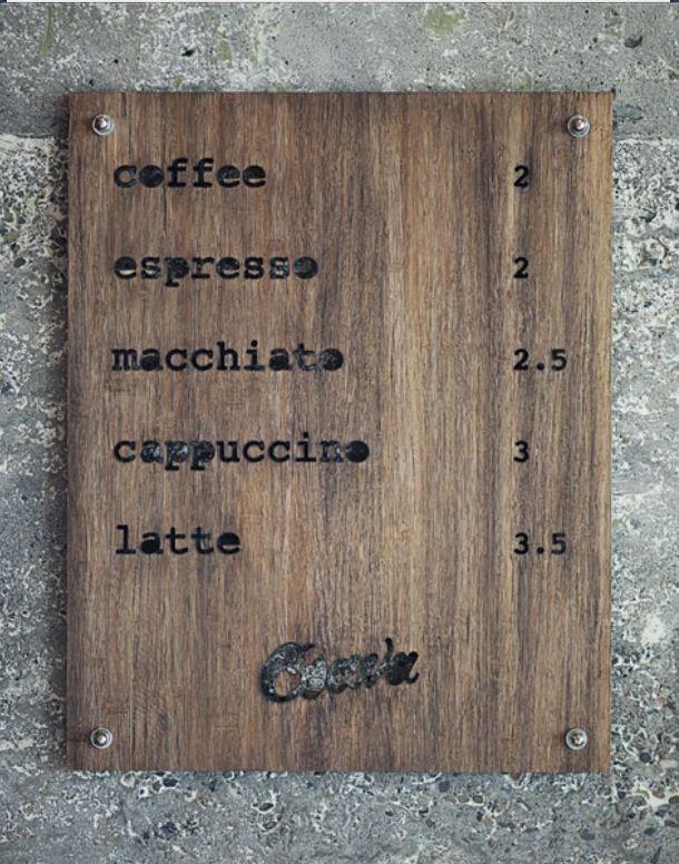 Simplicity   커피 메뉴, 메뉴 보드, 아이디어