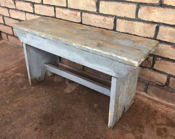 Tremendous Reserved Rustic Bench Small Primitive Bench Painted Bench Dailytribune Chair Design For Home Dailytribuneorg