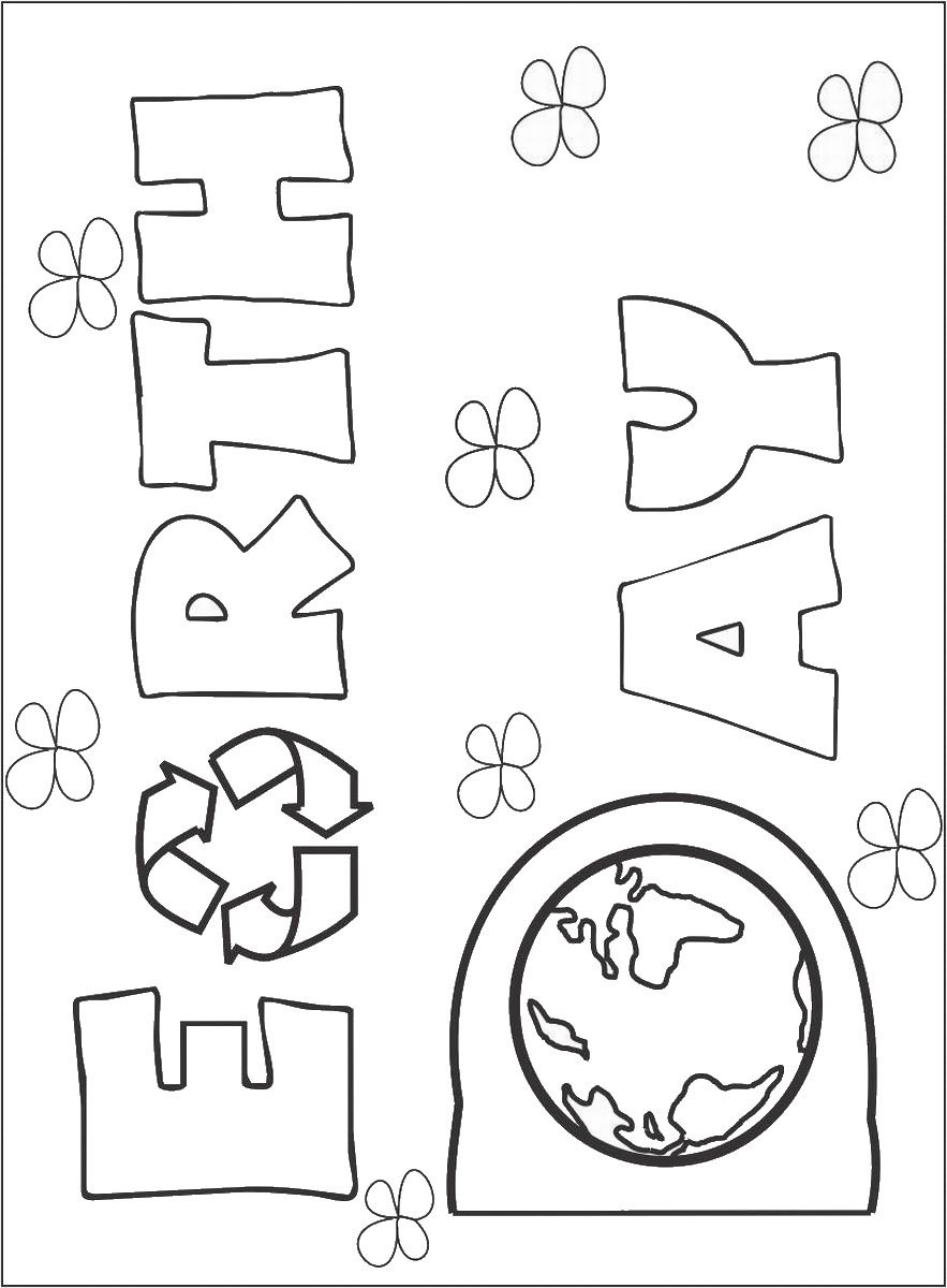 A Kinds Drawing About Earth Day Coloring Page With Day Coloring