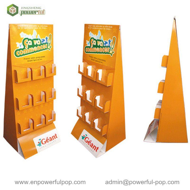 OEM Brochure Display Stand Cardboard Greeting Card Display Stands ...