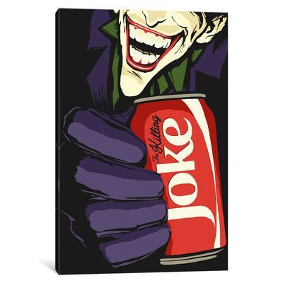 "Mercury Row The Killing Joke by Butcher Billy Vintage Advertisement on Wrapped Canvas Size: 40"" H x 26"" W x 0.75"" D"