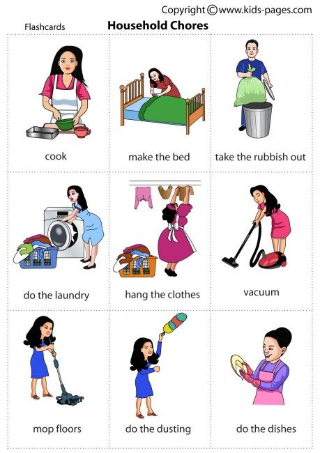 kids pages household chores