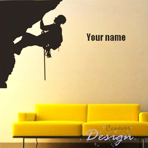 Rock Climbing Extreme Sports name Personalized Name----Removable ...