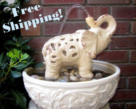 Elephant S Shower Water Fountain Indoor And Outdoor