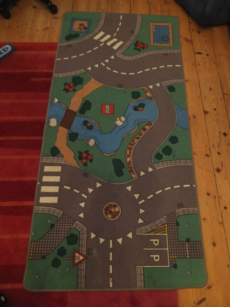 Extra large lego city road town car track play mat rug carpet toy ...
