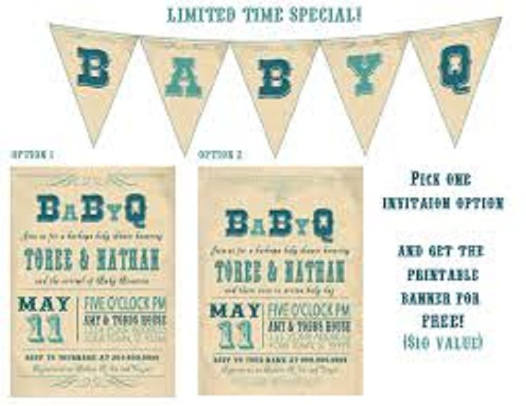 Coed Baby Shower Invitations Bbq