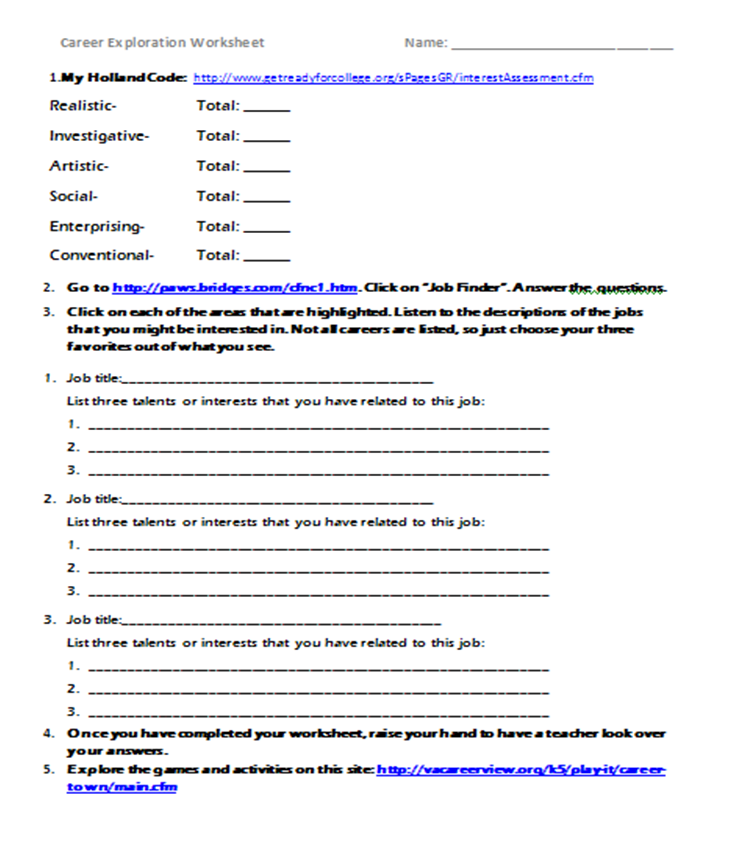 Printables Career Exploration Worksheet printables career exploration worksheets safarmediapps 1000 images about domain on pinterest websites and elementary school