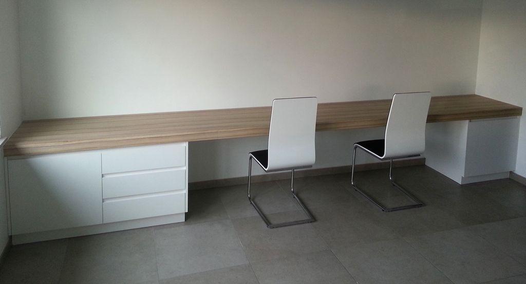 Zwevend bureaublad b style woonkamer pinterest for Ladeblok voor op bureau