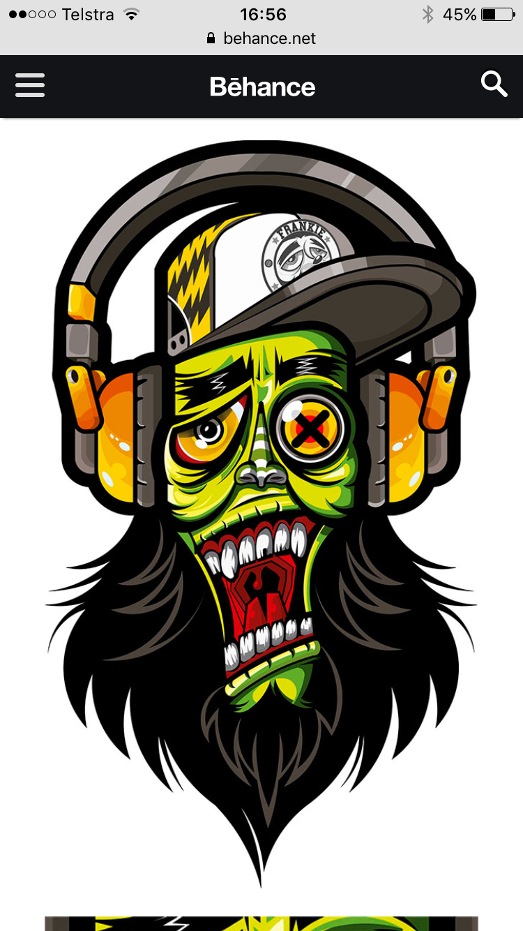 Digital illustration character illustration doodle art zombie vector art drawings hip