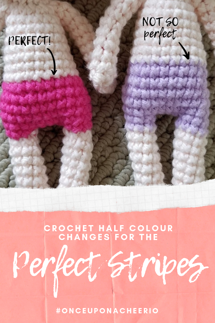 Crochet Half Colour Changes for the Perfect Stripes