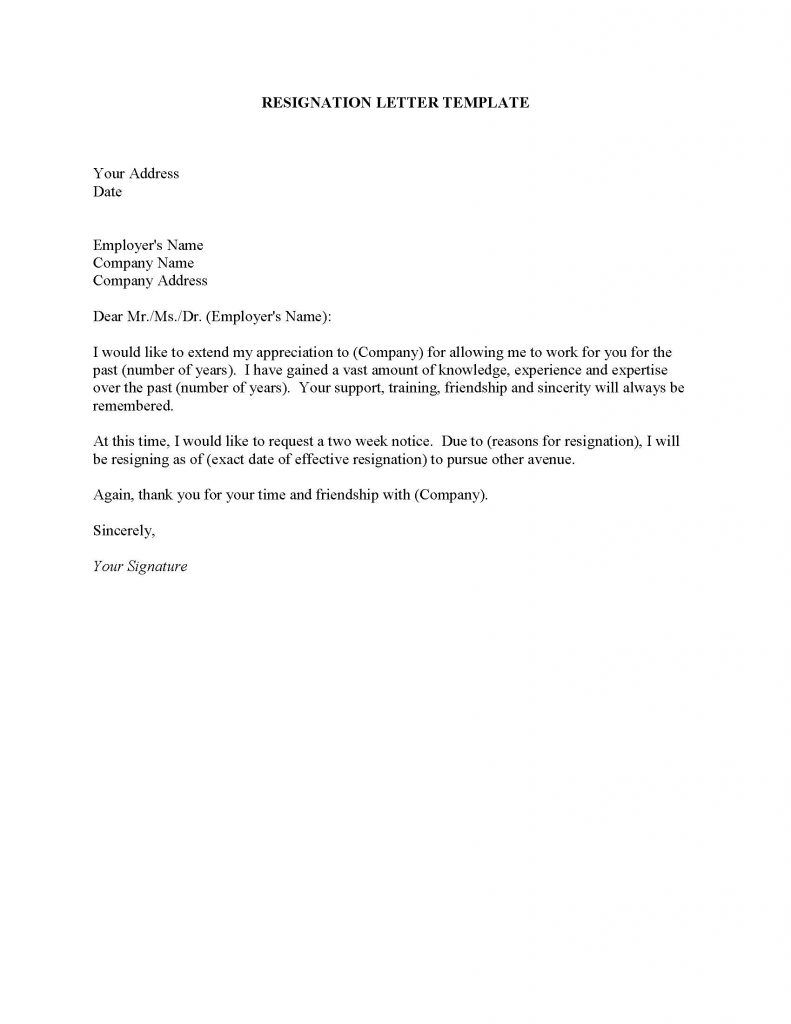Best Resignation Letter Endearing Resignation Letter Format Best Statement Generic  News To Go 3 .