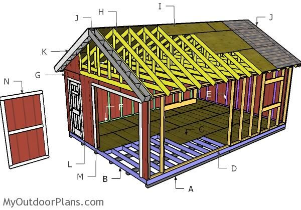 Building A 16x24 Shed Diy Shed Plans Shed Building Plans Shed Plans