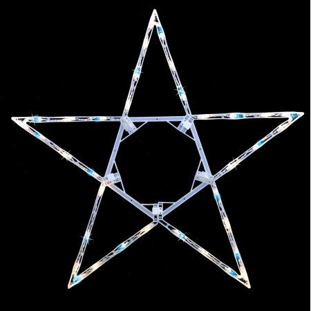 32 Inch Folding Lighted Twinkling Star Christmas Window