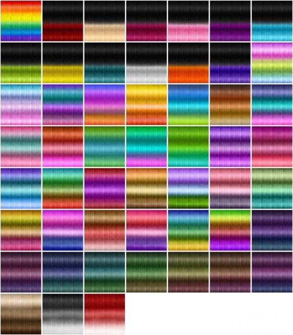 Jenni Sims: Textures for retextured hair sims 4 ( 251 colors ...