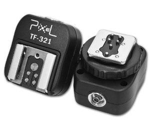 Pixel e-TTL Flash Hot Shoe Adapter with Extra PC Sync Port for Canon DSLRs and Flashguns by Pixel. $12.50