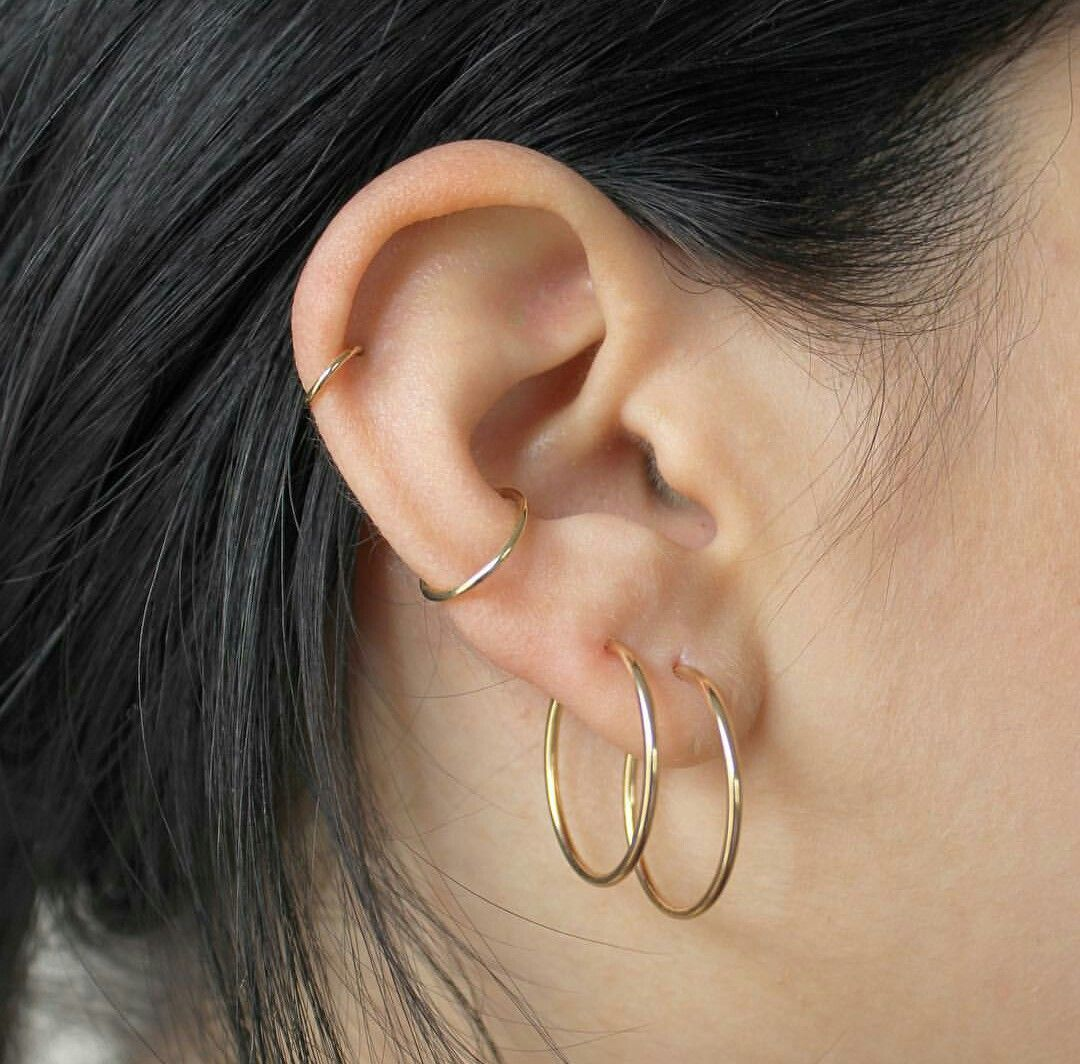 Double piercing nose ring  Pin by Alice Fell on Pretty  Pinterest