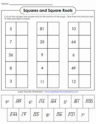 50 Squares And Square Roots Worksheet In 2020 Scientific Method Worksheet Worksheets Square Roots