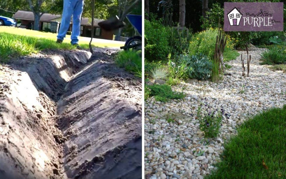 How to install a french drain in your yard | French drain ...