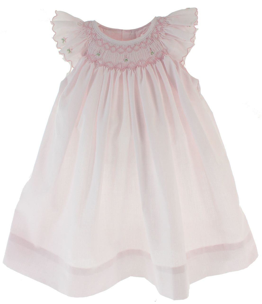 Sweet newborn girls pink smocked day gown makes a perfect take home ...