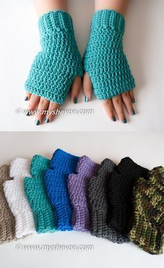 Easy Fingerless Gloves Free Pattern Yarn Works Pinterest