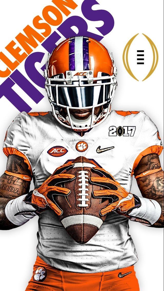 January 14th Is National Football Champions Day In Clemson Allin Orange White Clemson Tigers Football Clemson Tigers Wallpaper Clemson Wallpaper