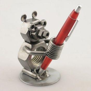 Bär Stifthalter - Schraubenmännchen #Bär als Stifthalter #Geschenk #Geschenkidee #Schraubenmaennchen
