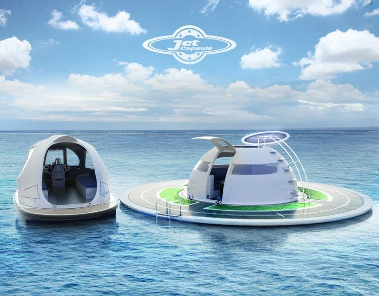 Jet Capsule And Houseboat Concept Mini Yacht Boat Floating House