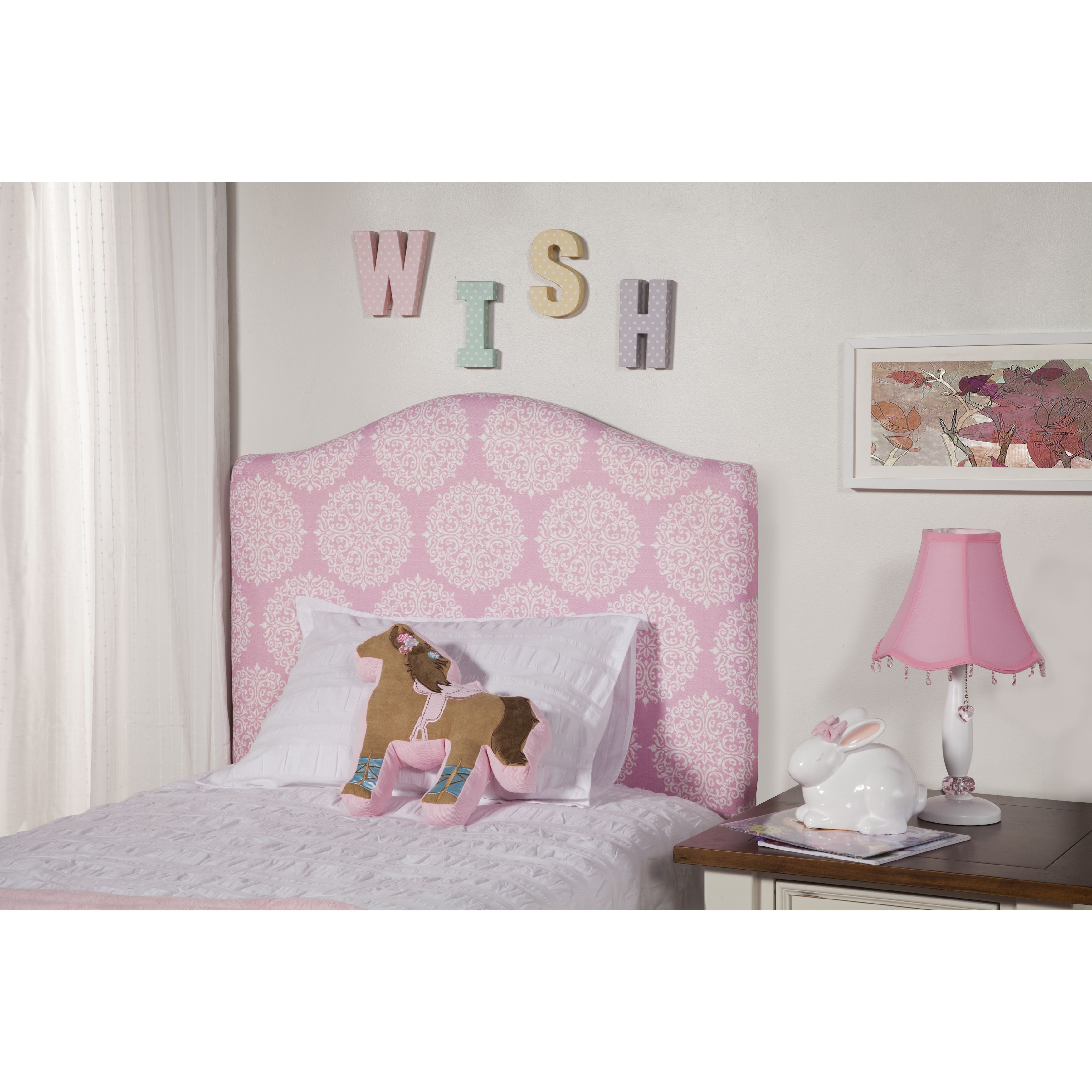 Dress up your little girl\'s twin bed with the fun pink and white ...