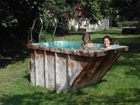 Cute mini dumpster swimming pool pools dumpster pool - Public swimming pools in poughkeepsie ny ...