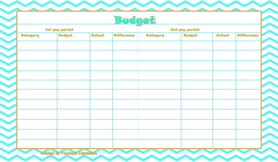 A free printable budget template This template is currently set up - bi weekly monthly budget spreadsheet