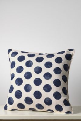 "18"" x 18""Painted Dot Decorative Pillow Cover from Lands' End"