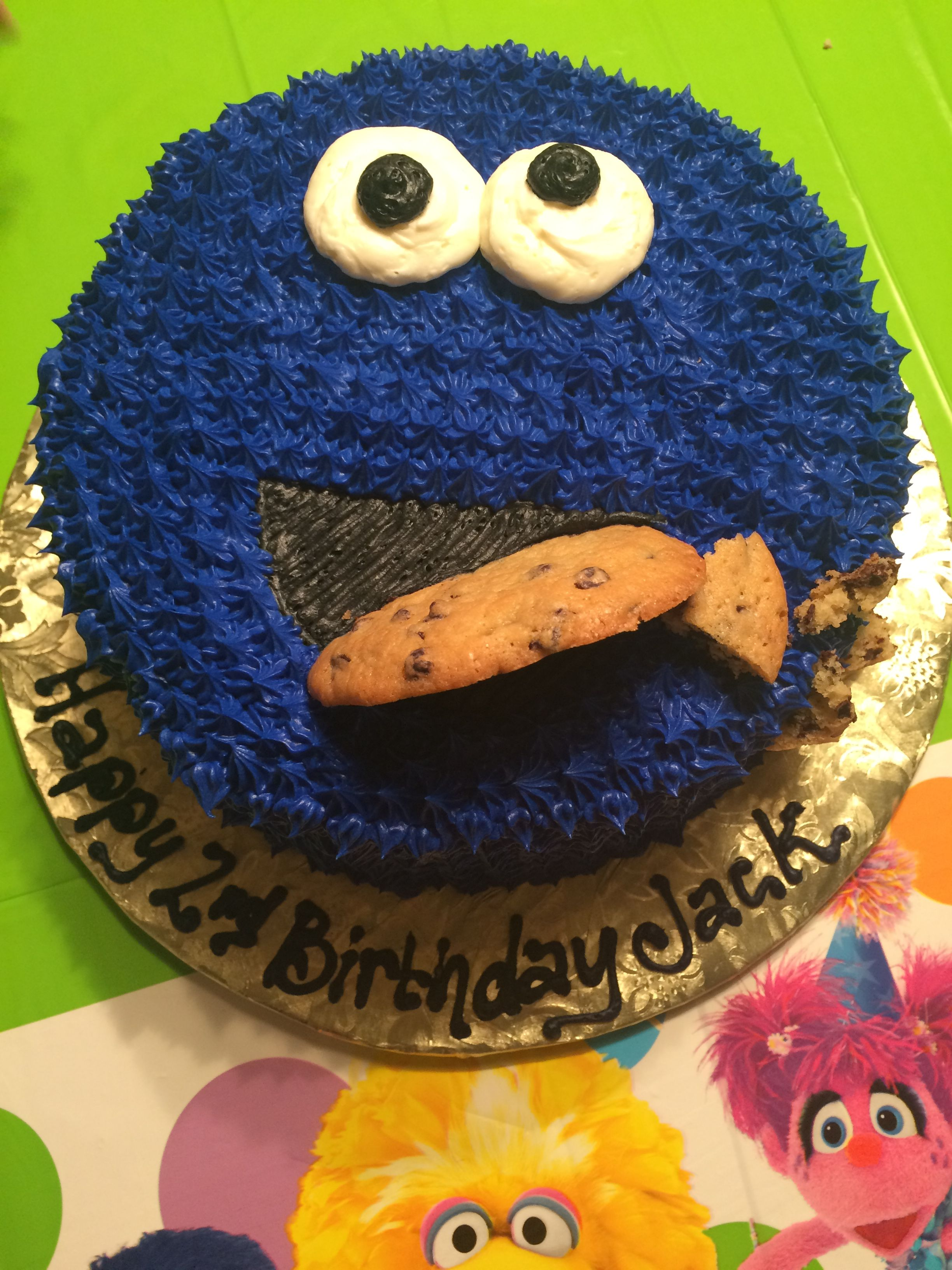Sesame Street 2nd Birthday Cake