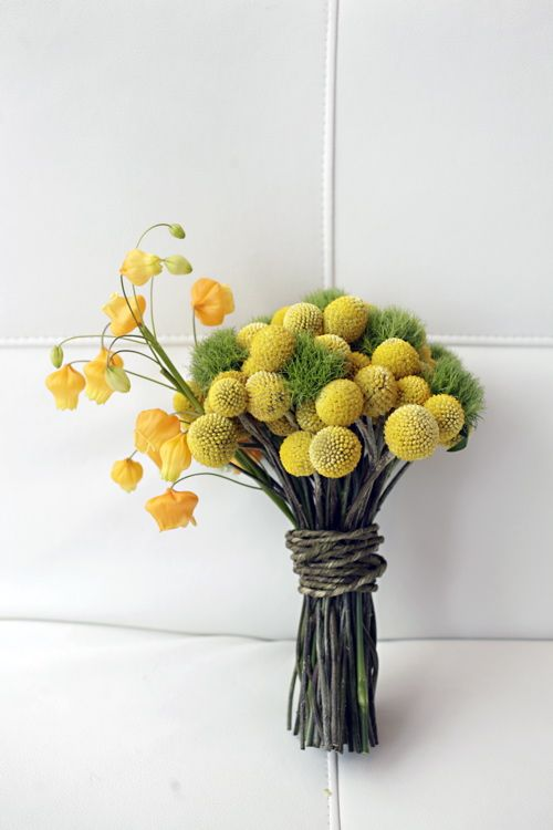 Our Yellow Billy Ball And Green Dianthus Bouquet Photography By Love Life Images Wedding Flower Inspiration Bridal Bouquet Green Eco Wedding
