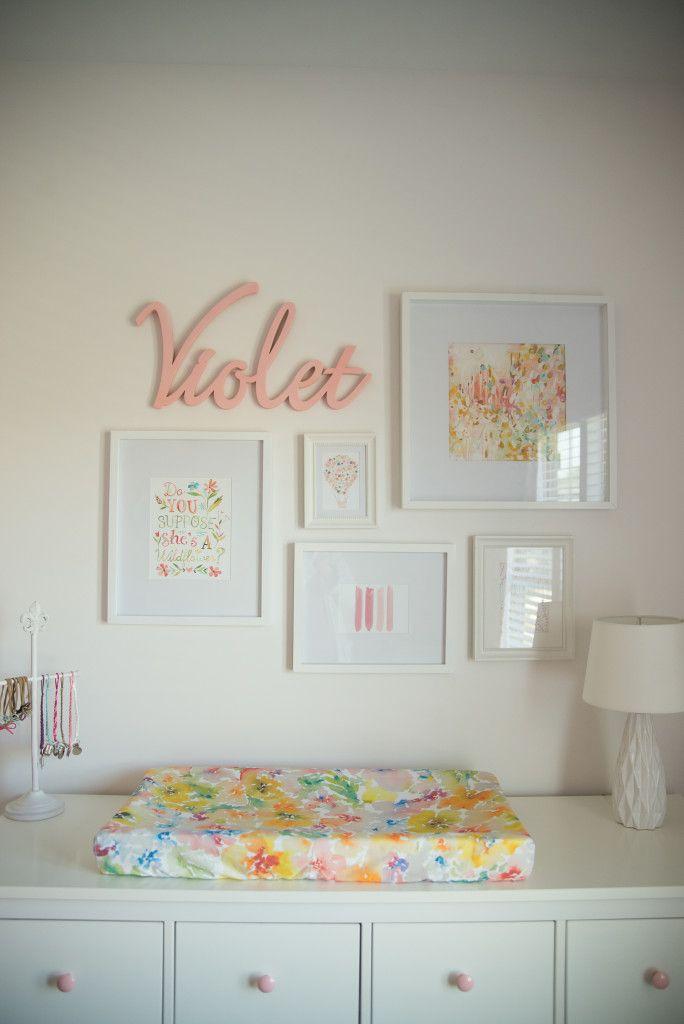 Violet S Whimsical Nursery Floral Nursery Ideas