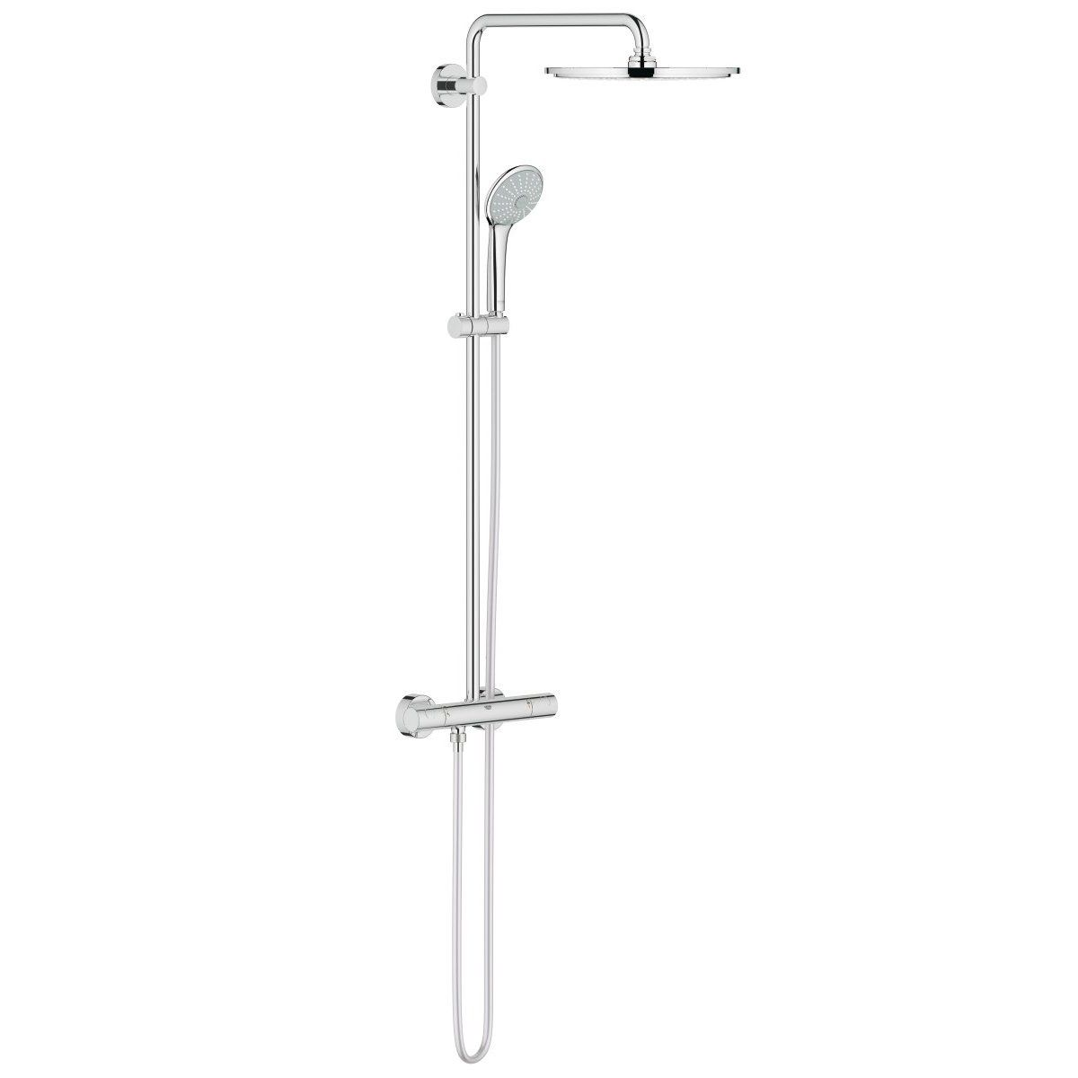 colonne de douche euphoria system thermostatique 310 mm chrom r f 26075000 grohe null