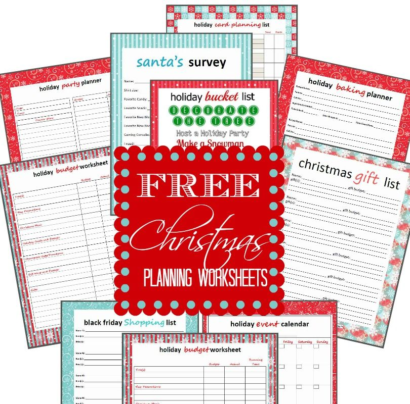 FREE Printable Holiday Planning Worksheets! Love these Checklists - free printable christmas lists