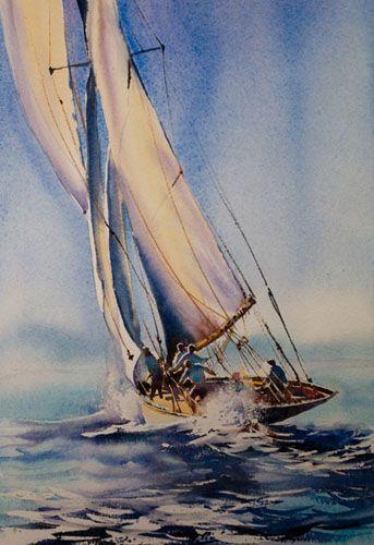 Aquarelles Marines Aquarelle Marichalar Watercolor Peinture De