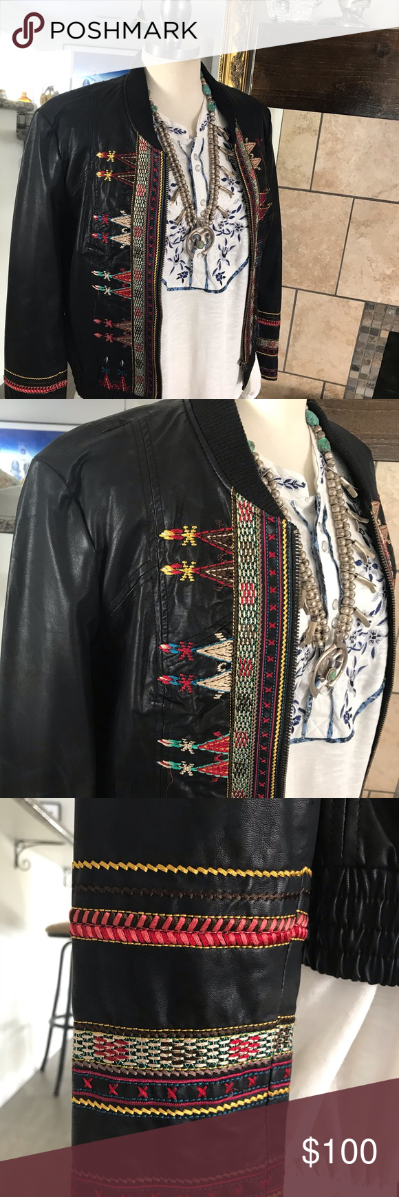 Free People Indian Print Embroidered Jacket In 2020 Embroidered Jacket Indian Prints Clothes Design