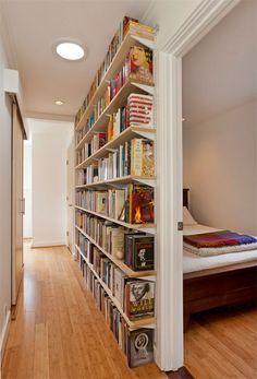 Shallow Book Wall Doesn T Take Up Much E At All